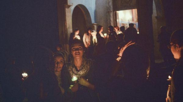 «Воистину воскресе» на первомайской демонстрации